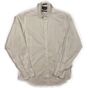 2/$20 🛍️ Black/Brown 1826 White Cotton Shirt